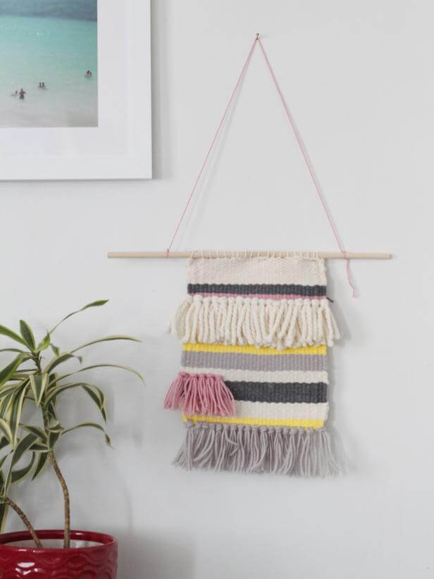 25. DIY Woven Wall Hanging
