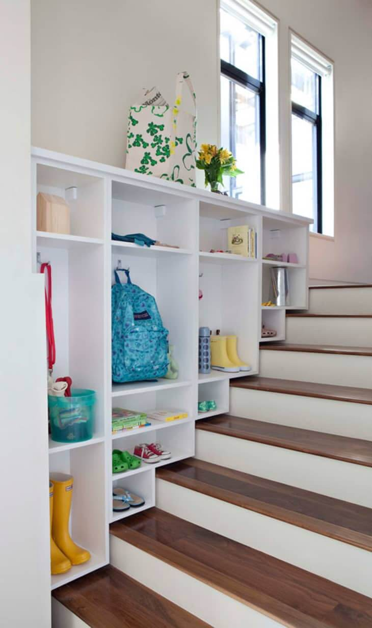 25. Mudroom alongside the stairs