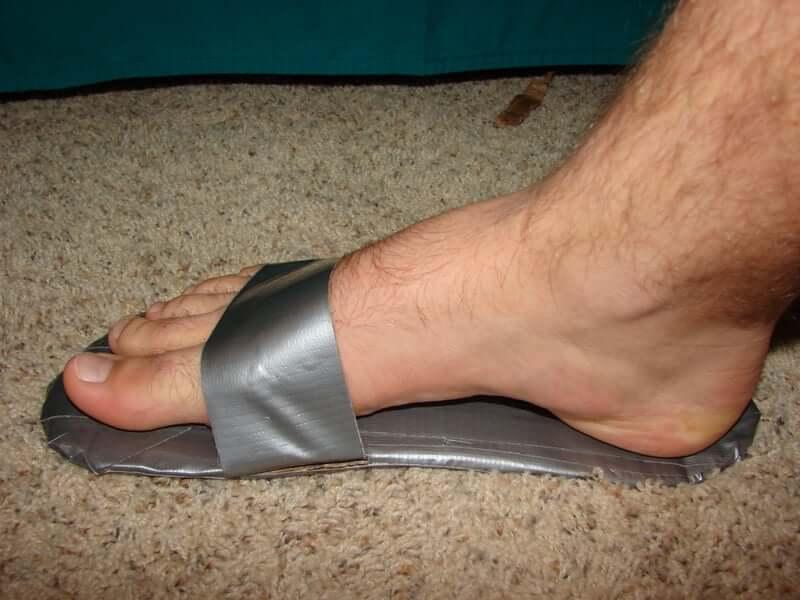 28. Duct Tape Sandals DIY