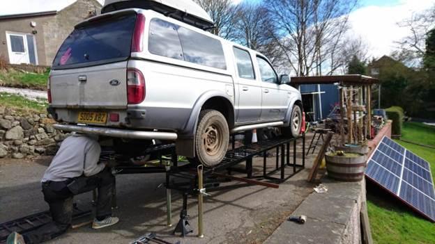 3. DIY Heavy Duty Car Ramp