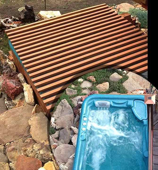 3. DIY Rollable Hot Tub Cover