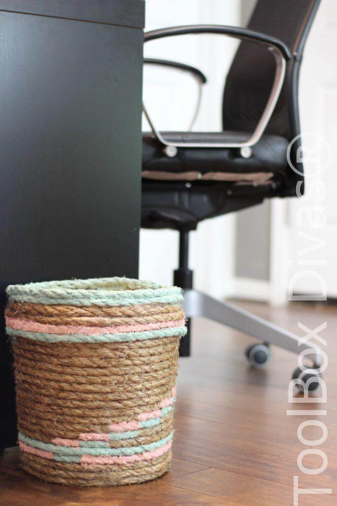 3. Rope Trash Can