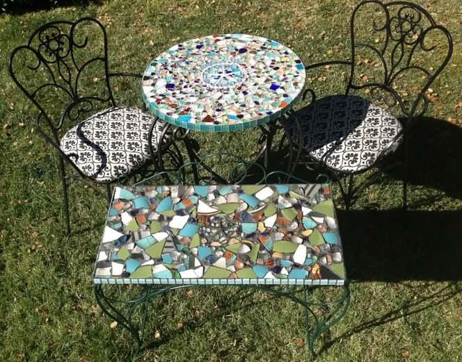 3. Sea Mosaic Table Top DIY