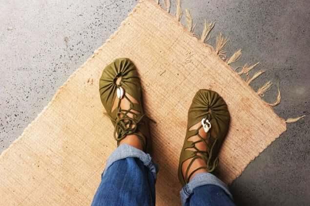31. Soft SoledLeather Sun Sandals DIY