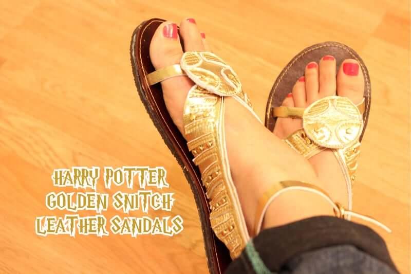 33. Harry Potter Golden Snitch Leather Sandal DIY