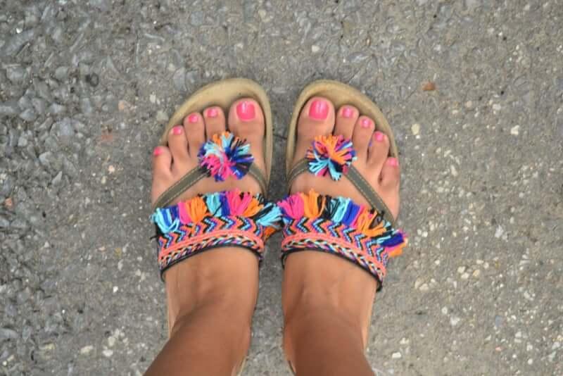 34. Bohemian summer Sandals DIY