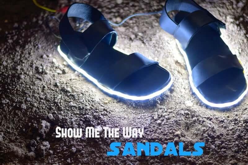 36. Show Me the Way Sandals DIY