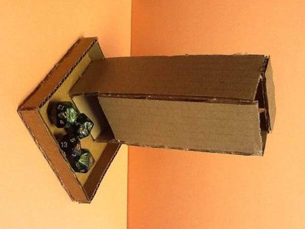 4. DIY Dice Tower Cardboard