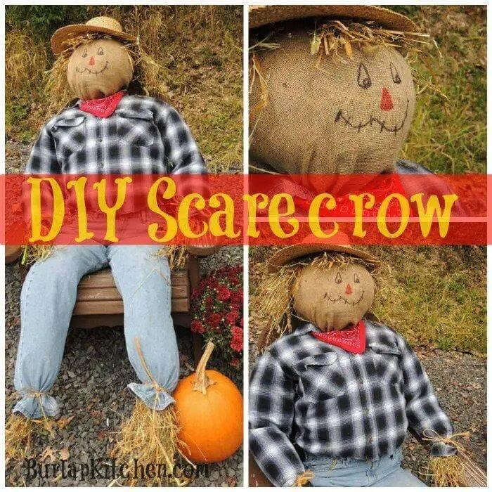 4. DIY Scarecrow For Birds
