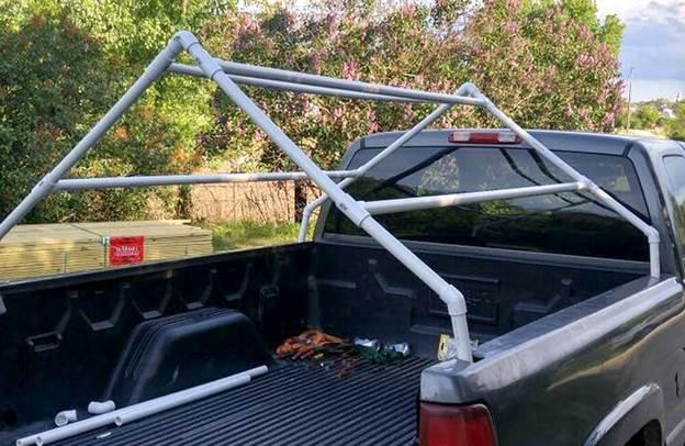 4. Homemade Truck DIY Bed Tent