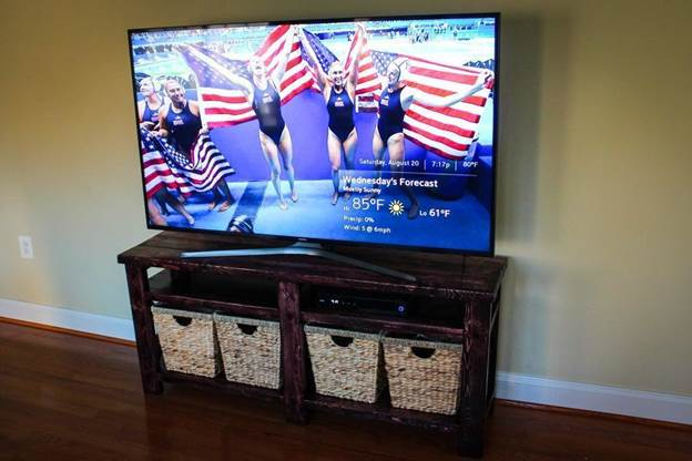 4. Rustic TV Stand