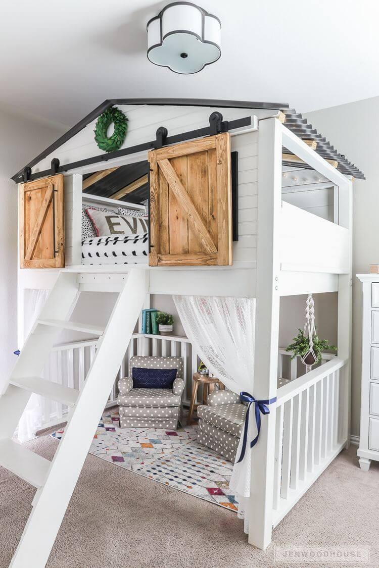 4. Sliding Barn Door Loft
