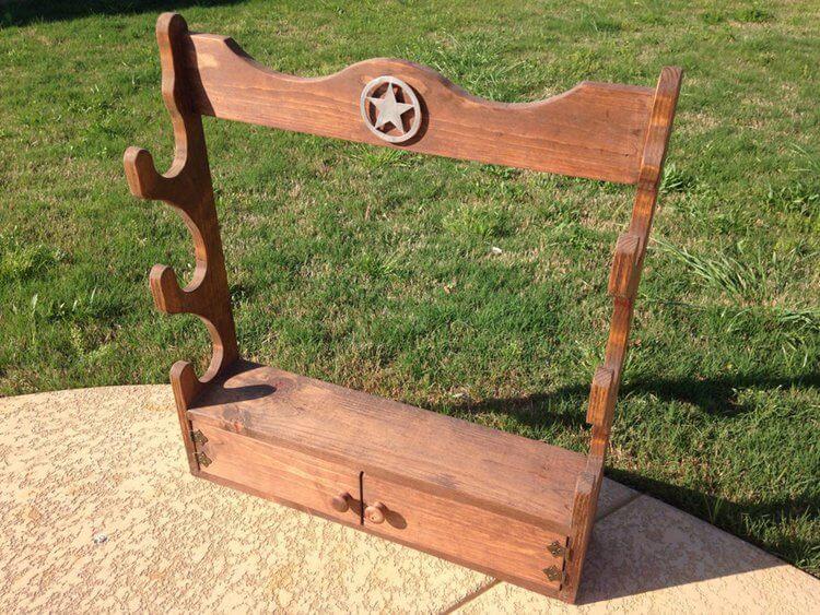 4. The Wooden Gun Rack
