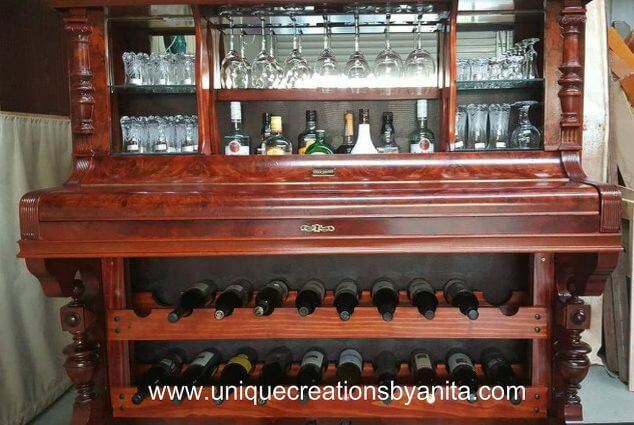 5. DIY Repurposing a Piano into a Liquor Cabinet