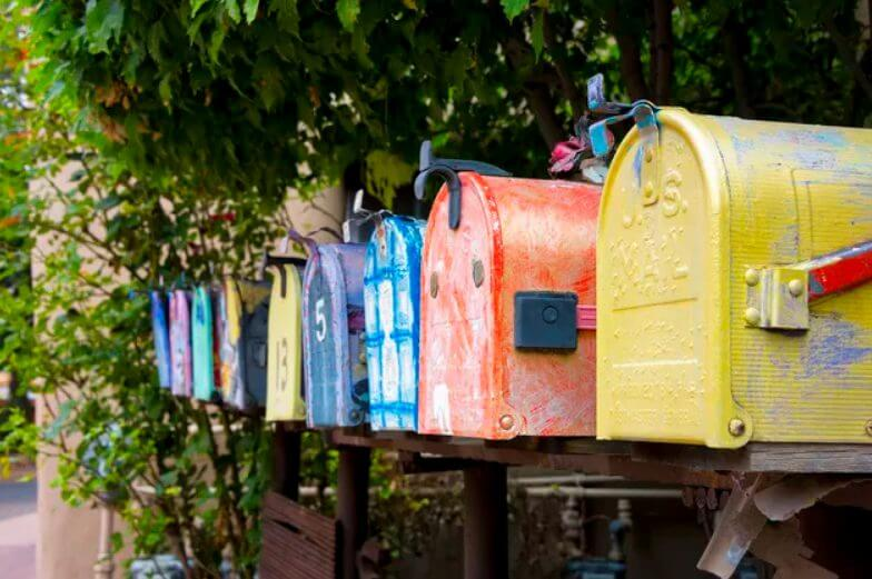 5. Double DIY Mailbox Post