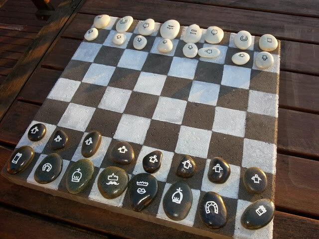 5. Outdoor DIY Chess Board