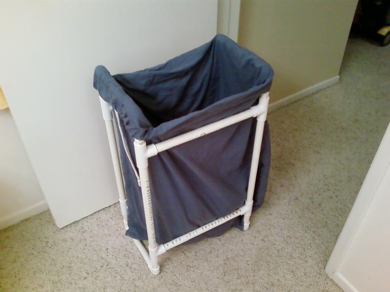 5. PVC Pipe Frame Laundry Hamper