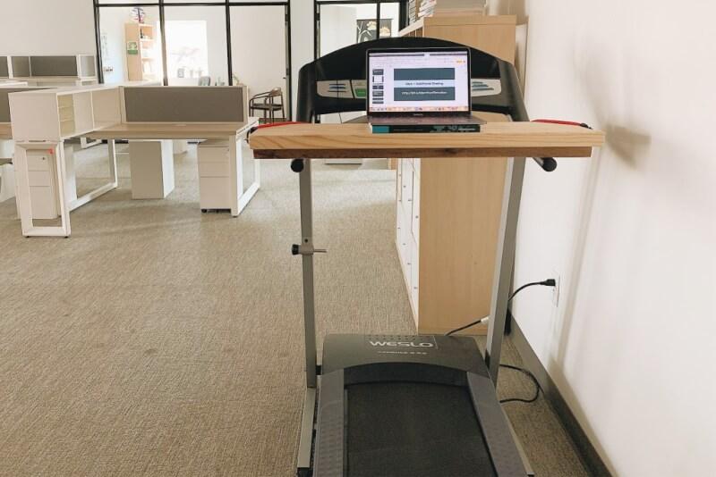 5. Wooden DIY Treadmill Desk