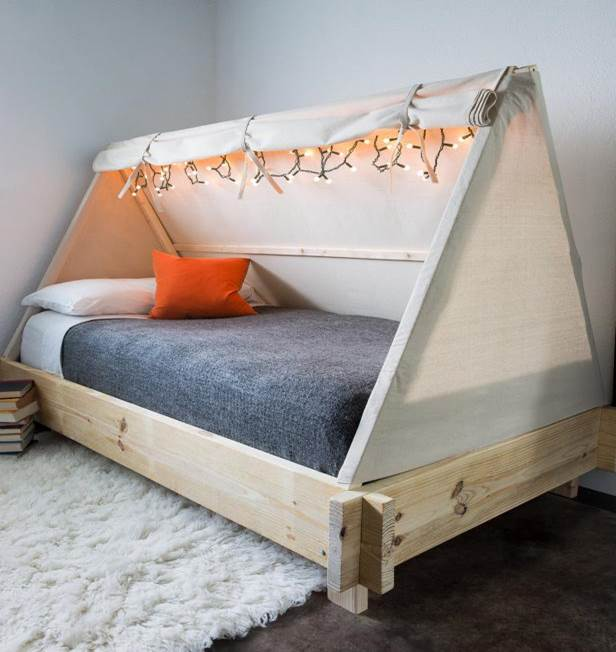 5.Easy To Build DIY Bed Tent