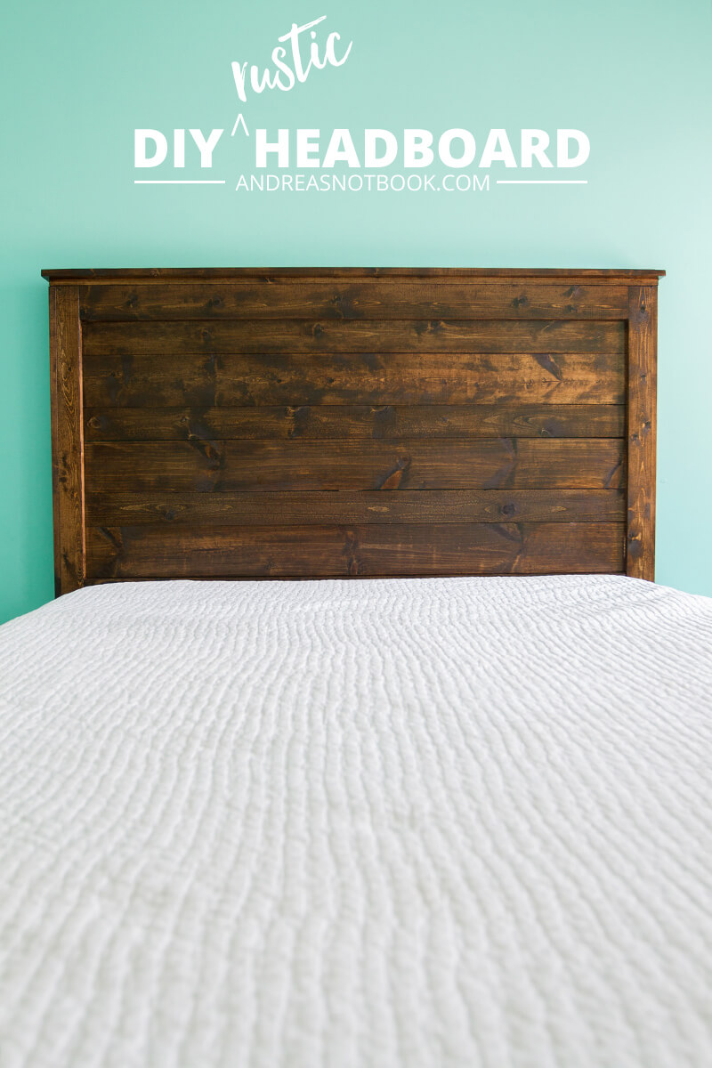 5.Easy To Build DIY Rustic Headboard