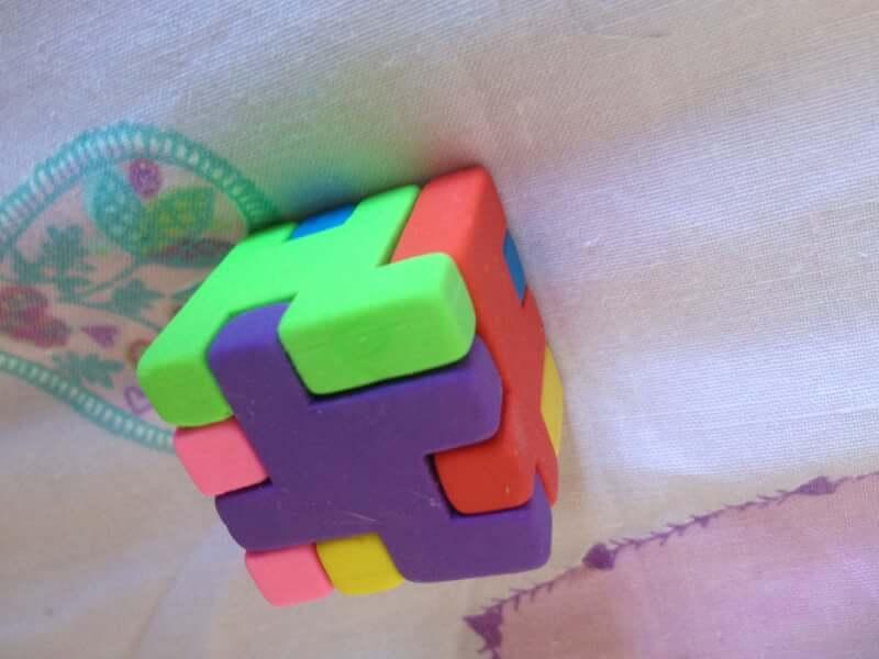 6. Cube Eraser Puzzle DIY