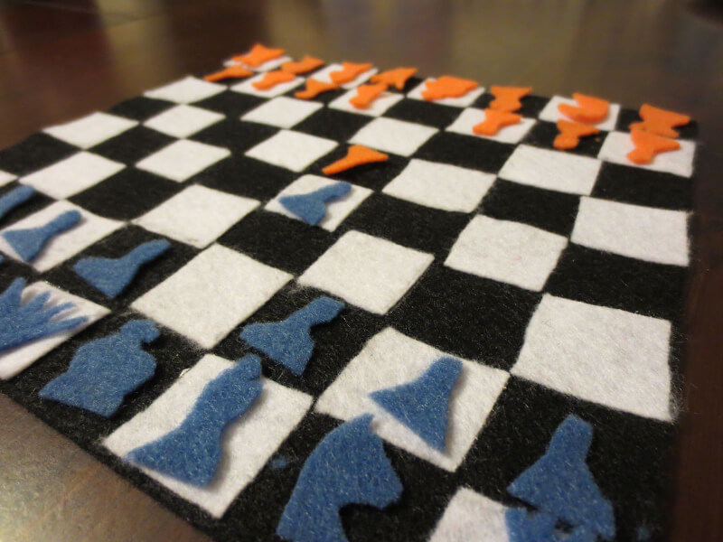 6. DIY Chess Board for Kids.