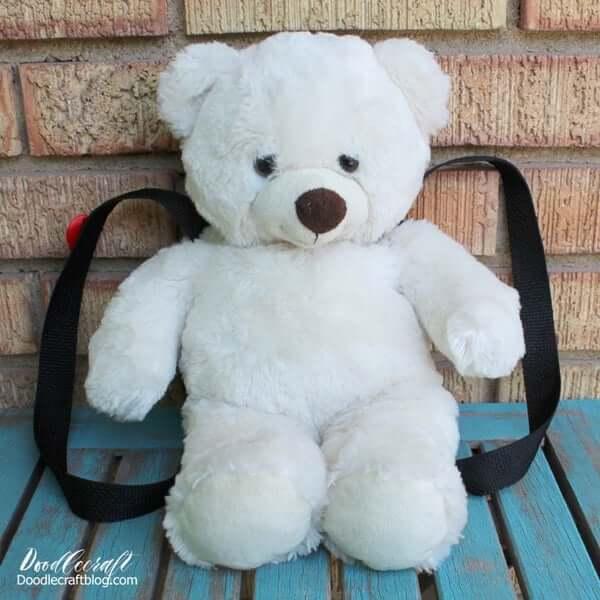 6. DIY Teddy Bear Backpack