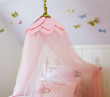 6. Hula Hoop DIY Bed Tent