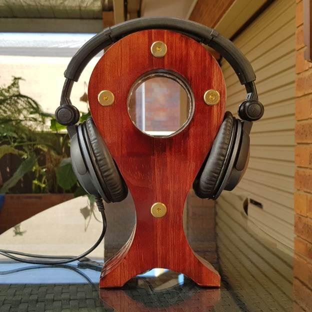 6. LED DIY Headphone Stand
