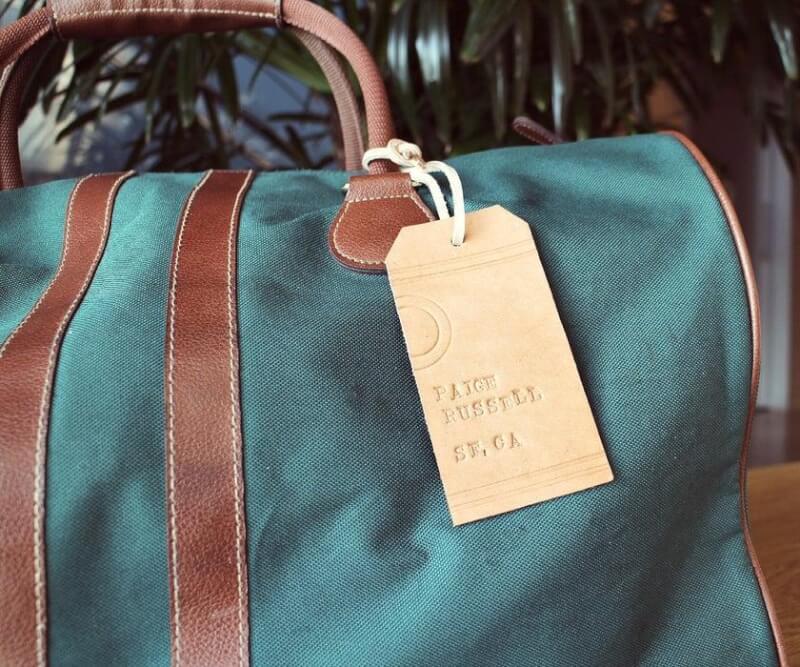 6. Leather Luggage Tags DIY