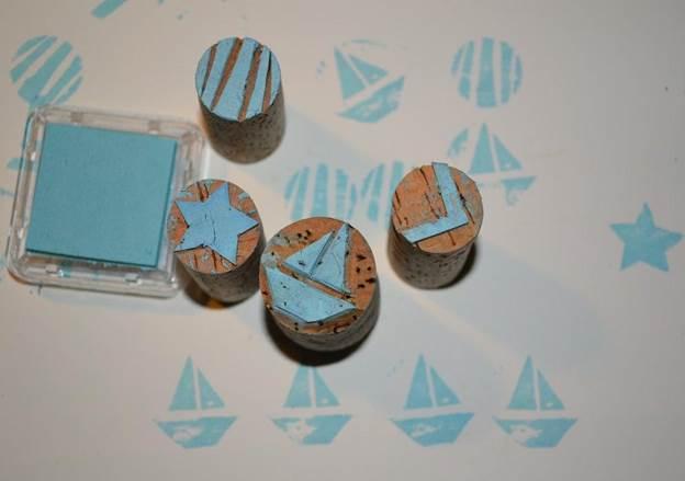 7. DIY Cork Stamps