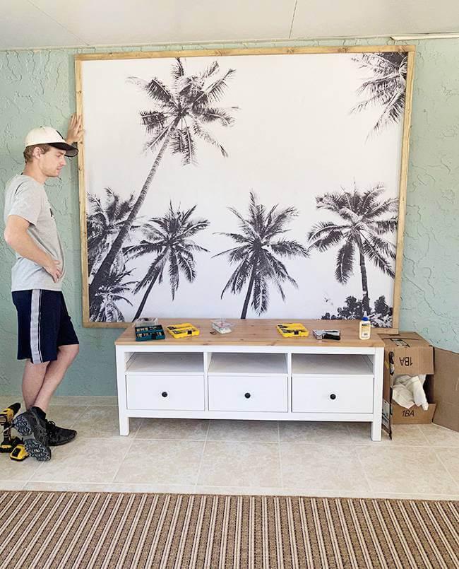 7. DIY Framed Tapestry