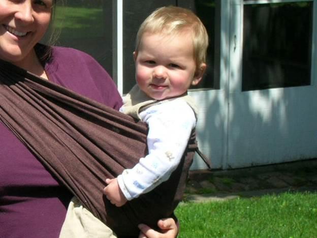 7. No Hands DIY Baby Sling