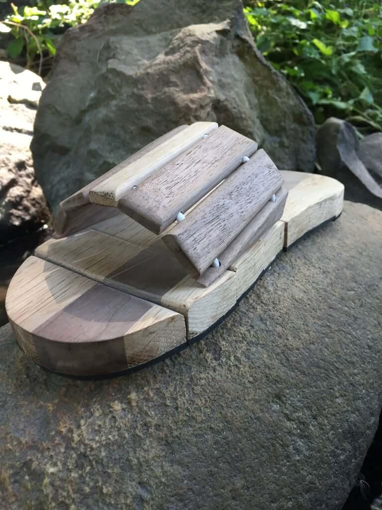 7. Wooden Sandals DIY