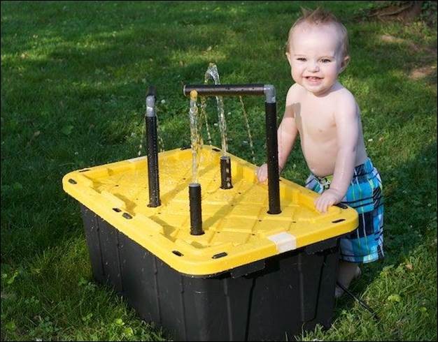 8. DIY Water Table For Kids