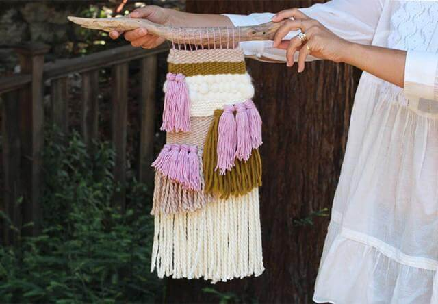 8. DIY Woven Tapestry