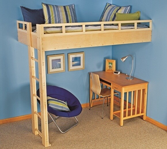 8. Loft Bed with ladder