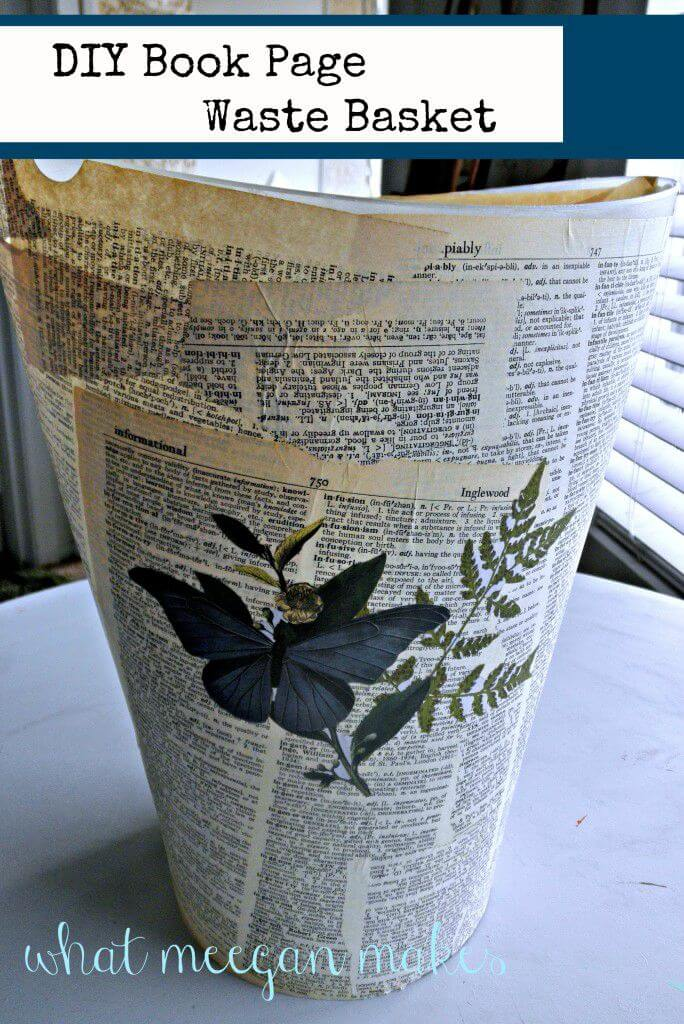 8. Newspaper waste can