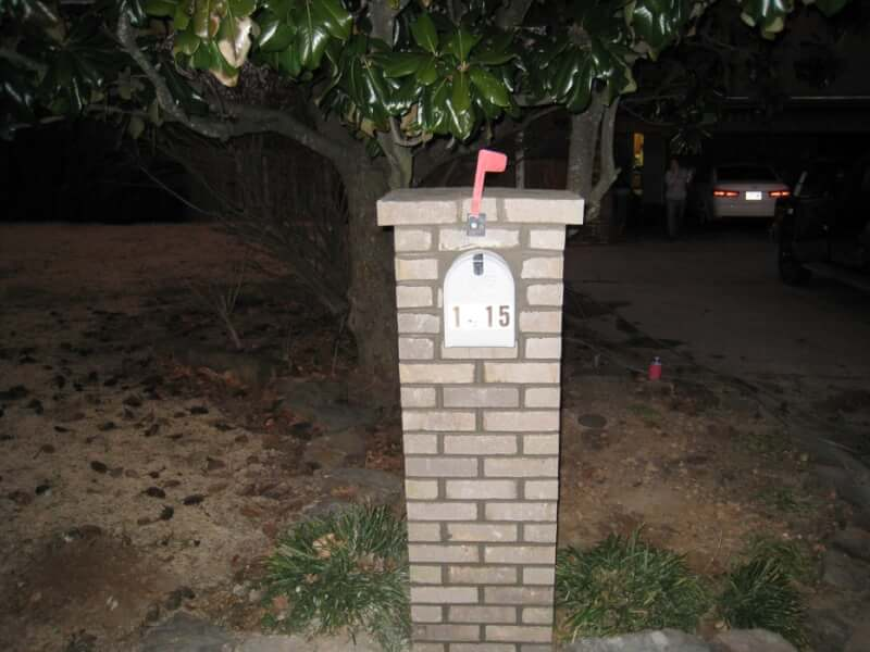 9. Brick DIY Mailbox Post