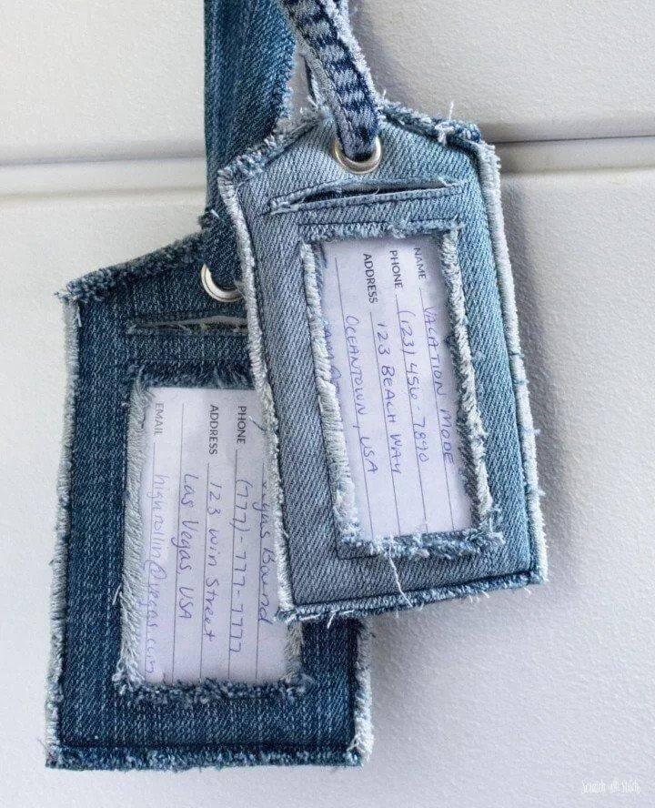9. DIY Luggage Tag