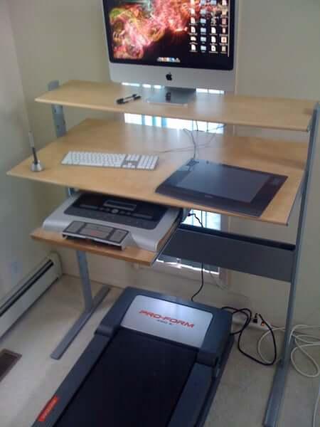 9. Fancy Ikea DIY Treadmill Desk