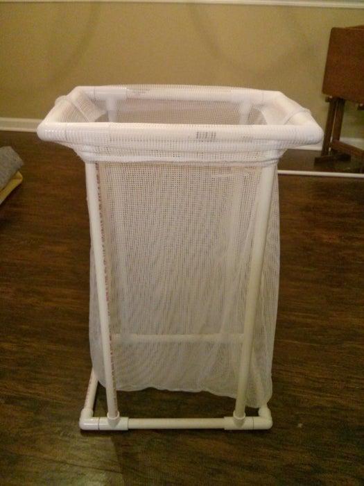 9. PVC Pipe Laundry Hamper