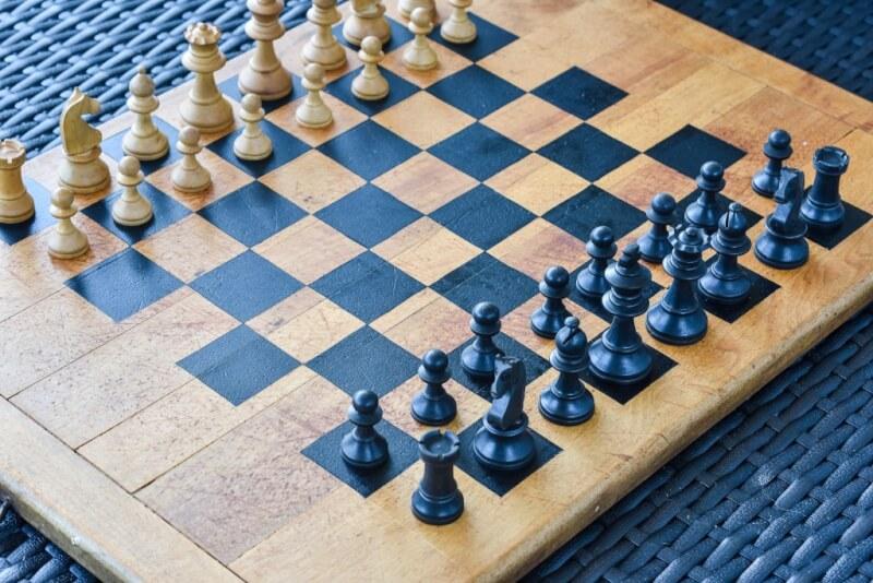 9. Thrift Shop Cutting DIY Chess Boards