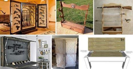 Diy Gun Rack and Cabinet Plans