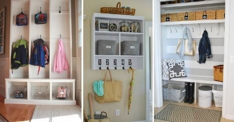 diy mudroom Storage Ideas
