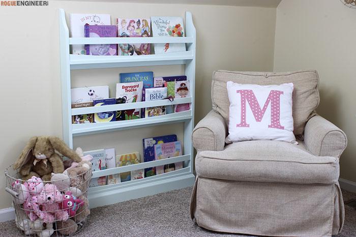 1. Children's Wall Bookshelf