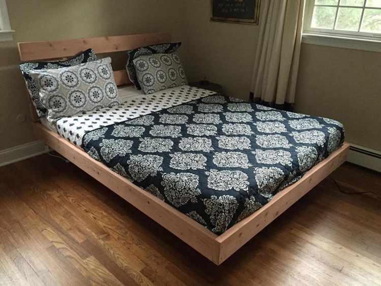 1. DIY Floating Bed
