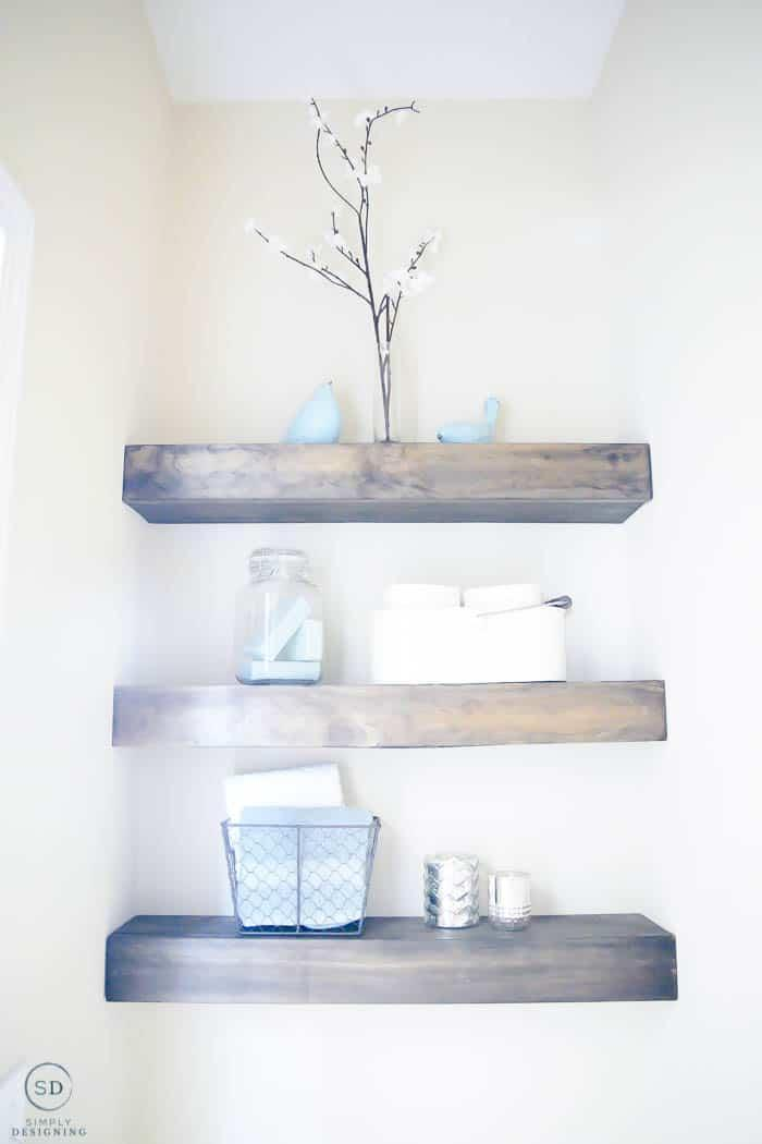 1. DIY Floating Shelves