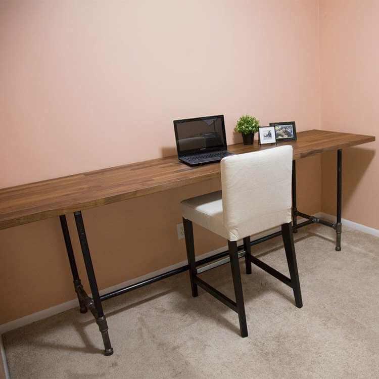 1. DIY Pipe Desk