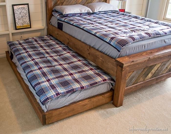 1. DIY Rolling Trundle Bed